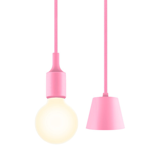 Pink Modern Kitchen LED Ceiling Hanging Lamp Light Fixture with G95 LED Globe Light Bulb Warm White Lighting Length Maximum 168CM 1 Lamp and 1 LED Bulb