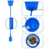 Dark Blue DIY Kitchen LED Hanging Ceiling Pendant Light Kit with G95 LED Globe Light Bulb 6W Cool White Lighting Maximum 168CM Adjustable Height 1 Lamp and 1 LED Bulb by Enuotek
