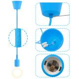 Light Blue DIY LED Ceiling Hanging Pendant Light Fitting with G95 LED Big Globe Light Bulb for Home 6W Cool White Lighting Maximum 168CM Adjustable Height 1 Lamp and 1 LED Bulb