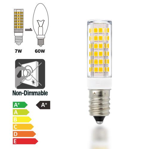 Super Bright 7W E14 SES LED Small Light Bulbs Capsule Light Bulbs Corn Lamp Bulbs AC220-240V 600Lm Warm White 3000K Replace 60W Incandescent Halogen Candle Light Bulb 6 Pack