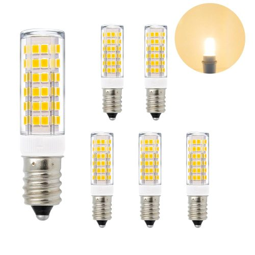 Super Bright 7W E14 SES LED Small Light Bulbs Capsule Light Bulbs Corn Lamp Bulbs AC220-240V 600Lm Warm White 3000K Replace 60W Incandescent Halogen Candle Light Bulb 6 Pack