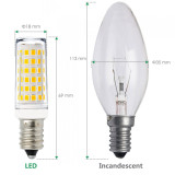 11W 1000Lm LED E14 SES Small Capsule Corn Light Bulbs Mini Lamp Bulbs Cool White 6000K AC220-240V Much Brighter than 60W Incandescent Halogen Candle Light Bulb 6 Pack