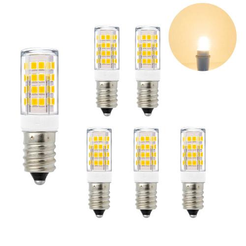 E14 SES LED Light Bulbs Capsule Bulbs Small LED Corn Light Bulbs 5W AC220-240V 400Lm Warm White 3000K Chandelier Candelabra Light Bulbs 6 Pack