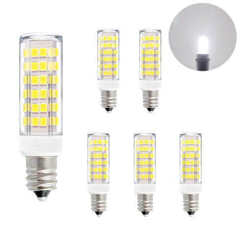 Super Bright 7W SES E12 LED Small Corn Light Bulbs Capsule Light Bulbs Lamps Cool White 6000K AC110-120V 600Lm Replace 60W Incandescent Halogen Candle Light Bulb 6 Pack