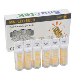 Super Bright 7W G9 GU9 Miniature LED Light Bulbs Capsule Corn Lamp Bulbs Warm White 3000K 600Lm AC220-240V Replace 60W G9 Halogen Light Bulb 6 Pack
