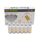 Cool White 6000K 5W G9 GU9 LED Capsule Light Bulbs Small Corn Lamp Bulbs 400Lm Replace 40W G9 Halogen Light Bulbs 6 Pack by Enuotek