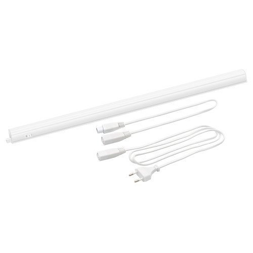 Connectible T5 9W LED Under Cupboard Light Tube Kitchen Worktop Lamp Neutral White 4000K Length 573MM with European Power Plug Replace T5 Fluorescent Light Fixture Pack of 1 Lamp