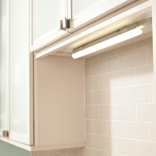 Connectible T5 5W LED Kitchen Under Cabinet Lamp Under Cupboard Light Tube Neutral White 4000K Length 313MM with European Power Plug Replace T5 Fluorescent Light Fixture Pack of 1 Lamp