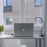 USB Powered Black Dimmable 4W LED Table Light Desk Reading Lamp Laptop Light with Clamp, Timer Function, Flexible Gooseneck, Eye Care Daylight Lighting