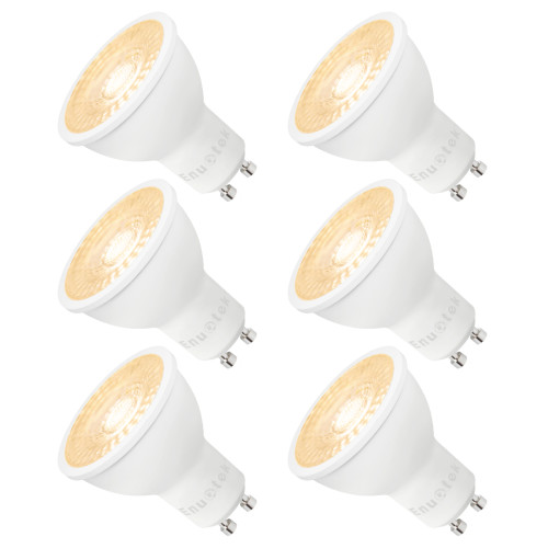 Super Bright Dimmable LED GU10 Spotlight Accent LED Spot Light Bulbs 7W 650Lm Warm White 3000K AC185~265V Replace Halogen Lamp 6 Pack
