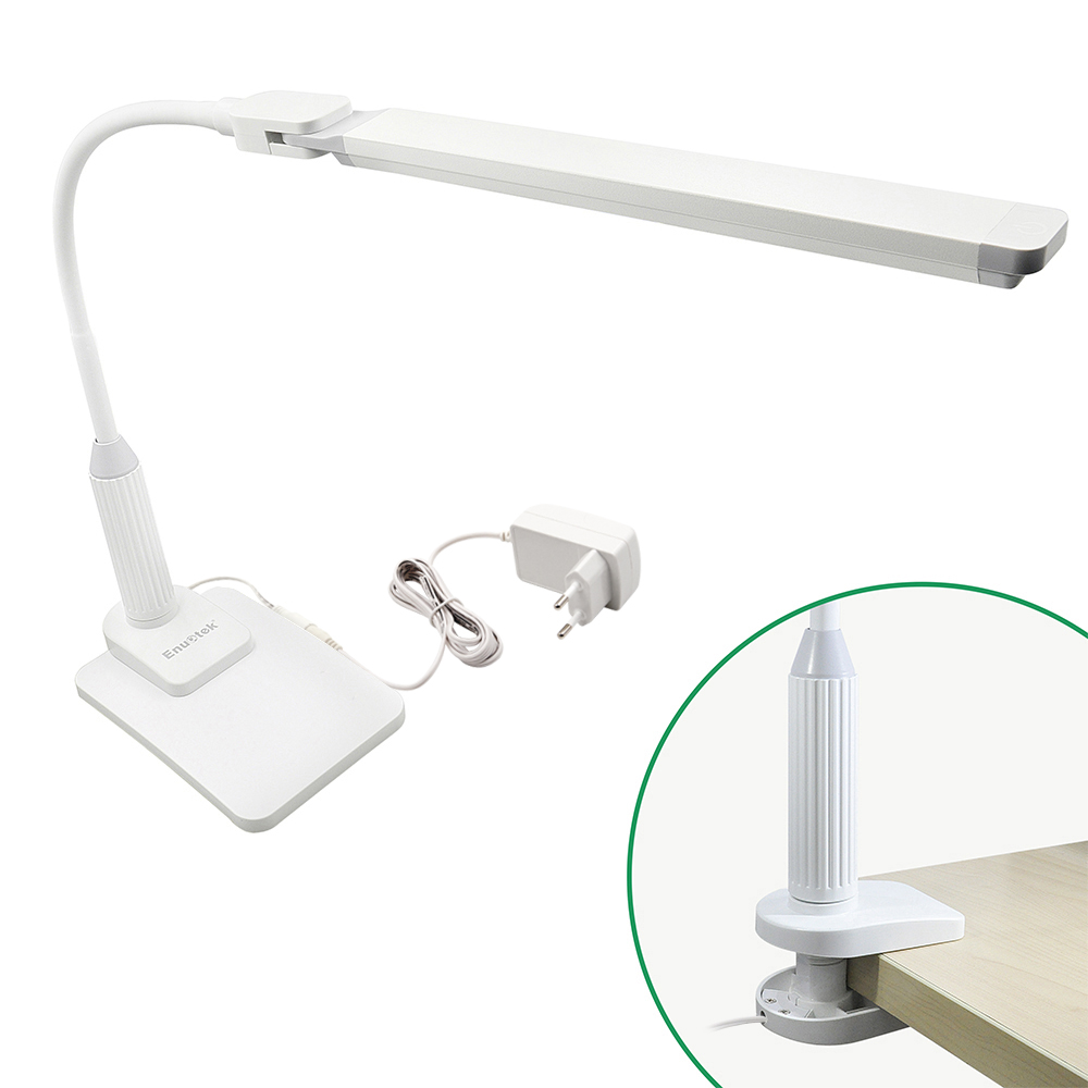 Touch Dimmable Desktop And Clip On Functional Led Desk Lamp Table Reading Light Work With Rotatable Head Max 7cm Clamp Thickness Eye Care