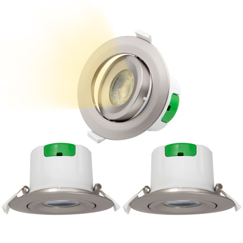 Nickel Plated Angled Recessed LED Spot Ceiling Downlights Spotlights Ceiling Lamps 9W Warm White 3000K Cut Hole Diameter 85-90MM AC100~240V