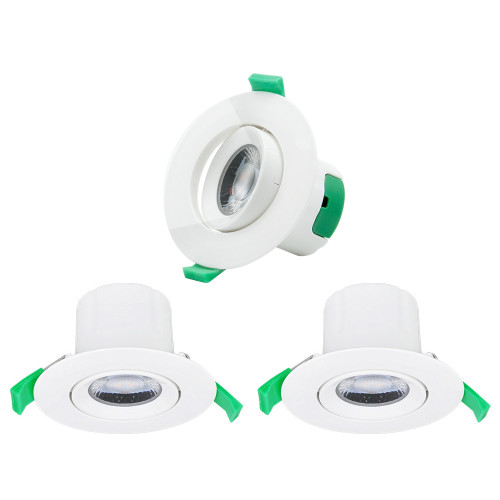 7W LED Directional Small Recessed Ceiling Downlights Recessed LED Ceiling Lamps Cool White Lighting 5000K Cut Φ70-75MM AC100~240V Lighting Direction Rotatable