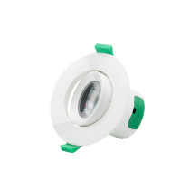 Angled LED Small Recessed Ceiling Downlight Spotlight for Sloped Ceiling 7W Cool White Lighting 5000K Hole Φ70-75MM AC100~240V Lighting Direction Adjustable