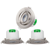 Nickel Plated Plastic Adjustable LED Recessed Ceiling Spot Lamps Spotlight Downlights 9W 5000K Cool White Ceiling Hole Diameter 85-90MM AC100~240V