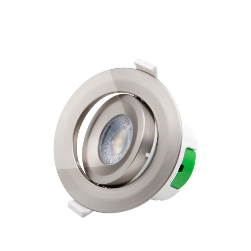 Metal Color Plastic Angled LED Ceiling Recessed Spot Lamp Spotlight Downlight Warm White 3000K 9W Ceiling Hole Diameter 85-90MM AC100~240V