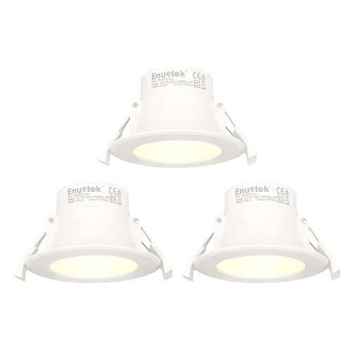 8W LED Small Recessed Downlights Recessed Ceiling Lights Warm White Lighting 3000K Cut Φ70-85MM AC100~240V IP44 Available for Bathroom