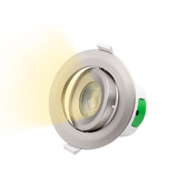 Nickel Plated Angled Tilt LED Ceiling Recessed Spot Lamp Spotlight Downlight Warm White 3000K Cut Hole Diameter 70-75MM AC100~240V 1 Pack
