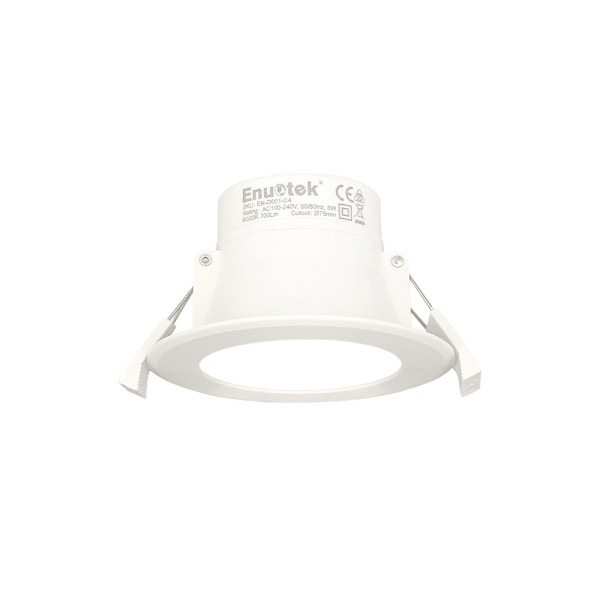 LED Small White Recessed Ceiling Downlight Ceiling Lamp LED 8W 5000K Cool White Cut Hole 70-85MMΦ AC100~240V IP44 for Kitchen Bathroom