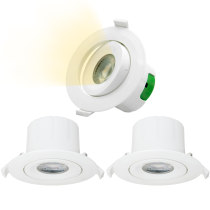 Directional 9W LED Recessed Spot Downlights Recessed LED Spot Ceiling Lights Cut Φ85-90MM Warm White Lighting 3000K AC100~240V Lighting Direction Adjustable