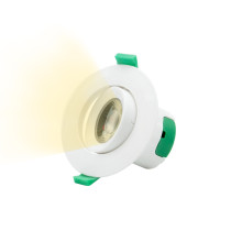 Angled 7W LED Small Recessed Ceiling Downlight Recessed LED Spotlight Warm White Lighting 3000K Hole Φ70-75MM AC100~240V Lighting Direction Adjustable