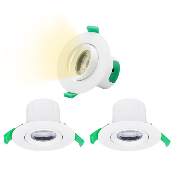 Directional 7W LED Small Recessed Ceiling Downlights Recessed LED Spotlights Warm White Lighting 3000K Cut Φ70-75MM AC100~240V Lighting Direction Adjustable