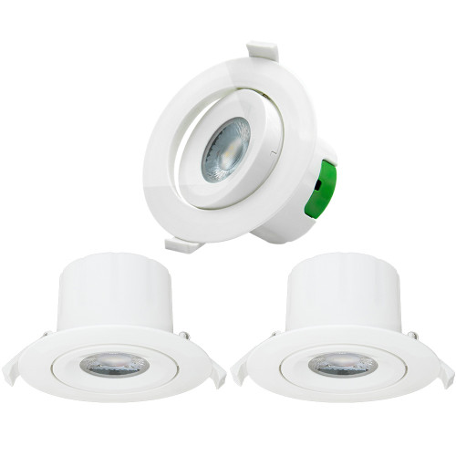 Directional 9W LED Recessed Spot Downlights Recessed LED Spot Ceiling Lamps Cut Φ85-90MM Cool White Lighting 5000K AC100~240V Lighting Direction Adjustable