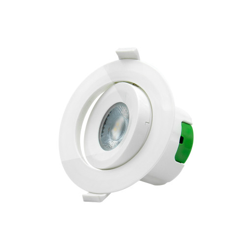 Angled 9W LED Ceiling Recessed Spot Downlight Fixture LED Ceiling Spotlight Cut Φ85-90MM Cool White Lighting 5000K AC100~240V Lighting Direction Adjustable