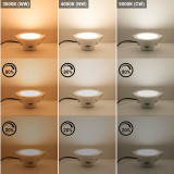 Dimmable LED Ceiling Downlights Recessed Lights Warm Cool White Lighting Color Adjustable 3000K 4000K 5000K 10W 220V-240V Cut Φ90-105MM IP44 Dampproof