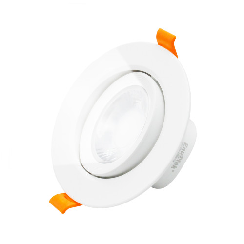Angled 9W LED Recessed Ceiling Downlight 3 Inch LED Spot Lamp Cool White Lighting 5000K, Direction Adjustable Daylight, Cut Hole Diameter 90-100MM AC100~240V Beam Angel 40º, 1 Pack by Enuotek