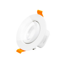 Angled Recessed Ceiling Spotlights 6W LED Cool White Lighting 5000K Retrofit Halogen DownLights LED for Sloped Ceiling, Cut Hole Diameter 70-80MM AC100~240V, 1 Pack by Enuotek