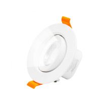 Angled Recessed Ceiling Spotlights 6W LED Cool White Lighting 5000K Retrofit Halogen DownLights LED for Sloped Ceiling, Cut Hole Diameter 70-80MM AC100~240V, 1 Pack by Enuotek
