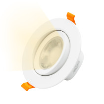 Angled 9W LED Recessed Ceiling Light Halogen Replacement LED Downlight Warm White 3000K for Sloped Ceiling, Cut Hole Diameter 90-100MM AC100~240V Lighting Direction Adjustable, 1 Pack by Enuotek