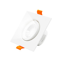 Square 6W LED Retrofit Halogen Downlight Cool White 5000K LED Recessed Ceiling Spot Lamp, 2.5 Inch Direction Adjustable Spotlight, Cut Hole Diameter 70-80MM AC100~240V, 1 Pack by Enuotek