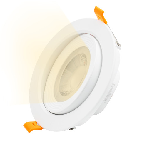 4 Inch 12W LED Downlights Retrofit Halogen Recessed Ceiling Spotlight Angled LED Down Light Warm White 3000K Cut Hole Diameter 120-130MM AC100~240V Beam Angel 40°, 1 Pack by Enuotek