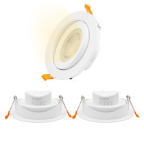 Large LED Recessed Ceiling Downlight Halogen Replacement LED Spotlights for Sloped Ceiling 12W Warm White 3000K Cut Hole Diameter 120-130MM AC100~240V, 3 Pack by Enuotek