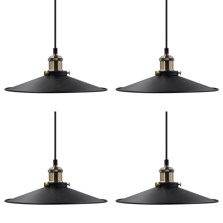 Vintage Kitchen Island Dining Room Black Metal Pendant Lamps Hanging Light Shade Fixtures Maximum 2 Meters Suspension Height Adjule Lamp