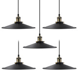 Black Vintage Ceiling Long Hanging Pendant Lights Suspended Lamps Fixtures for Dining Room Kitchen Island Restaurant Maximum 2 Meters Suspension Height 2 Lamps by Enuotek