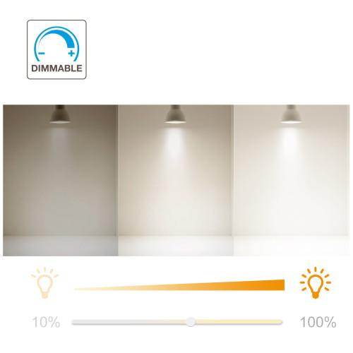 Dimmable 7W GU10 LED Spotlight Downlight Track Spot Light Bulbs Cool White 5000K 650Lm Brightness AC185~265V Replace 60W Halogen Lamp 12 Pack by Enuotek