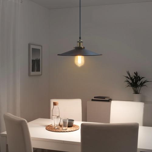 Black Vintage Ceiling Long Hanging Pendant Lights Suspended Lamps Fixtures For Dining Room Kitchen Island Restaurant