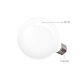 G95 Big Globe Edison E27 LED Round Light Bulb Energy Saving 6W Omnidirectional Warm White Lighting 3000K Replace 60W Incandescent Lamps 6 Pack by Enuotek