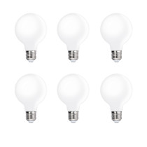 G80 E27 6W 600Lm LED Edison Light Bulbs Pendant Hanging Light Bulb Lamps Daylight 5000K Omnidirectional Lighting Angle Replace 60W Incandescent Bulb 6 Pack by Enuotek