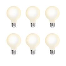 G80 6W LED Globe Edison E27 Pendant Lamp Light Bulbs Type G Omnidirectional Lighting Angle 600Lm Warm White 3000K Diameter 80MM Glass Lamp Shade 6 Pack by Enuotek