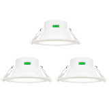 Dimmable 10W LED Kitchen Bathroom Recessed Flat Ceiling Downlights IP44 LED Ceiling Lamps Lighting Color Selectable 220V-240V Ceiling Hole Diameter 90-105MM 6 Lamps by Enuotek