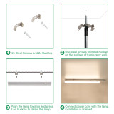 Connectible Mains LED Under Cabinet Hard Strip Lighting Bars Hardwired LED Cupboard Light Fixtures 4000K Neutral White Lamp Length 573MM with European Power Plug Pack of 3 Lamps by Enuotek