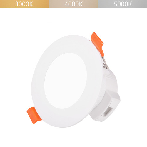 5W Small Diameter LED Flush Mount Recessed Ceiling Downlight Adjustable Lighting Color 3000K 4000K 5000K 450Lm IP44 Ceiling Hole Small Diameter 65-80MM 1 Lamp by Enuotek