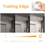 Dimmable Directional 5W Small LED Sloped Recessed Spotlights Vaulted Ceiling Down Lights 3000K 4000K 5000K Lighting Angle 38° Ceiling Hole Diameter 65-80MM 3 Lamps by Enuotek