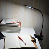 Touch Dimmable Clip On LED Desk Lamp Black LED Table Light Metal LED Reading Light with Flexible Gooseneck Eye Care 5000K Daylight White Lighting Color by Enuotek