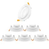 12W Large LED Recessed Ceiling Spot Downlights Ceiling Lamps for Slanted Ceiling Lighting Cool White 5000K 40º Beam Angel Cut Hole Diameter 120-130MM AC100~240V 6 Pack by Enuotek