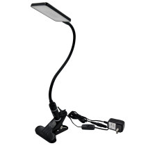 Touch Dimmable Clip On LED Desk Lamp Black LED Table Light Metal LED Reading Light with Flexible Gooseneck Eye Care 5000K Daylight White Lighting Color by Enuotek